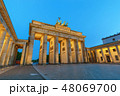 Berlin Germany, night skyline at Brandenburg Gate 48069700