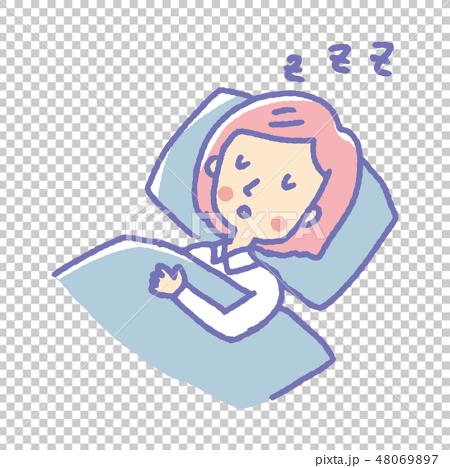 睡眠【線画・シリーズ】 48069897