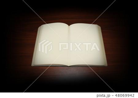 広げた本(白紙) 48069942