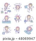 女性【線画・シリーズ】 48069947