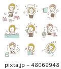 女性【線画・シリーズ】 48069948