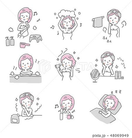 女性【線画・シリーズ】 48069949