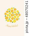 誕生日 バースデーカード バースデーのイラスト 48070241