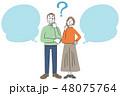 高齢者 シニア 老夫婦 ふきだし 48075764