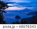 富士山 夕景 世界遺産の写真 48076343