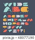 フォント 記号 バックグラウンドのイラスト 48077190