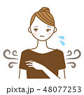 ワキガ 腋臭症 女性のイラスト 48077253