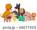 漫画 わんこ 犬のイラスト 48077459