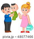 ベビー 赤ちゃん 赤ん坊のイラスト 48077466