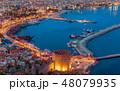 Sunset view of popular resort city Alanya, Turkey 48079935