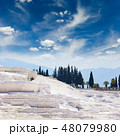 White travertine terrace formations, Turkey 48079980