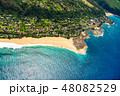 海 空撮 ビーチの写真 48082529