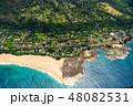 海 空撮 ビーチの写真 48082531