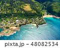 海 空撮 ビーチの写真 48082534