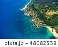 海 空撮 ビーチの写真 48082539