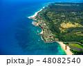 海 空撮 ビーチの写真 48082540