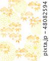 和柄 柄 模様のイラスト 48082594