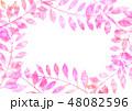 植物 葉 フレームのイラスト 48082596