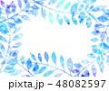 植物 葉 フレームのイラスト 48082597