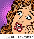 woman fear face 48085647
