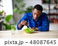 サラダ サラダ ご飯の写真 48087645