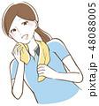 ダイエット 運動 フィットネスのイラスト 48088005