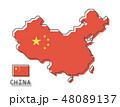マップ 地図 チャイナのイラスト 48089137