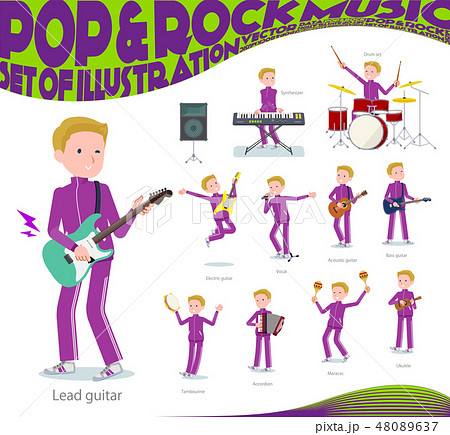flat type school boy jersey White_pop music 48089637