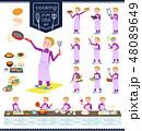 flat type school boy jersey White_cooking 48089649