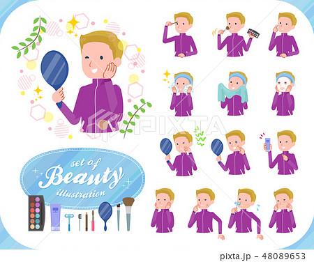 flat type school boy jersey White_beauty 48089653