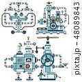 マシン マシーン 機械のイラスト 48089843