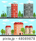 都市 デザイン 柄のイラスト 48089878