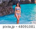 ビーチ 浜辺 ビキニの写真 48091081