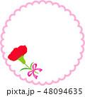 母の日メッセージカード ピンク カーネーション 48094635