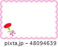 母の日メッセージカードぴんく カーネーション 48094639