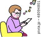 おばあちゃん レクリェーション 歌 カラオケ 48094801