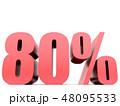80 パーセント %のイラスト 48095533