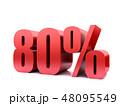 80 パーセント %のイラスト 48095549