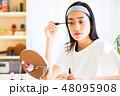 女性 美容 化粧の写真 48095908