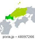 ベクター 山口県地図 山口県のイラスト 48097266