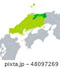 鳥取県地図と中国地方 48097269