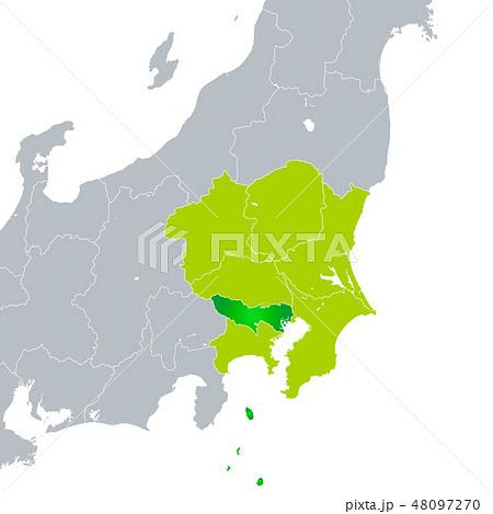 東京都地図と関東地方 48097270