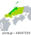島根県地図と中国地方 48097359