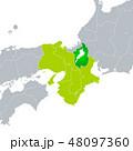滋賀県地図と近畿地方 48097360