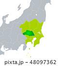 埼玉県地図と関東地方 48097362
