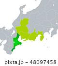 三重県地図と東海地方 48097458