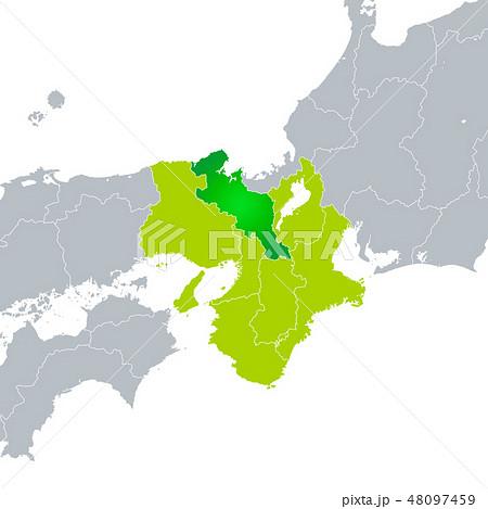 京都府地図と近畿地方 48097459