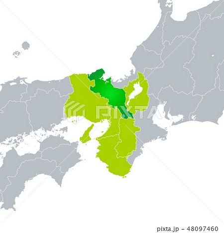 京都府地図と関西地方 48097460