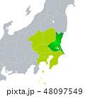 ベクター 茨城県地図 茨城県のイラスト 48097549