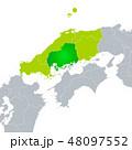 ベクター 広島県地図 広島のイラスト 48097552